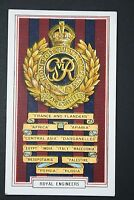 ROYAL ENGINEERS  1914/18  Great War  Campaign Honours Card  # VGC
