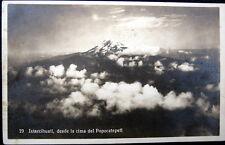 MEXICO~HUGO BREHME RPPC No. 29~Volcano Ixtaccihuatl,desde la cima Popocatepetl