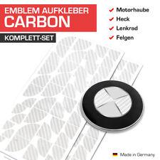Carbon Silber Emblem Aufkleber Ecken für BMW F87 M2, F90 M5, G01 X3, G20 3er