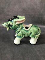 Vintage Japan Ceramic Glaze Donkey Mule Figurine - Chopstick Pen Pencil Holder