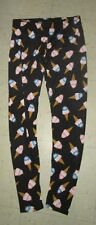See You Monday Leggings Ice Cream Cone Dessert Print Pants Hippie Boho Jrs L