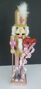 """Valentines Day Pink Gold Red Nutcracker Rose Gold Shabby Chic King Guard 16"""" NEW"""
