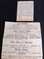 62-7 Ephemera 1931 Margate Advert The Lounge Cinema Myrna Loy The Isle Of Escape