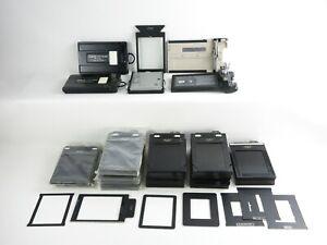 Konvolut Filmkassetten film cassettes Linhof 9x12 Lisco Regal Grafmatic 45 etc.