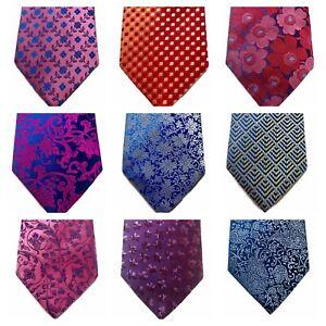 100% Silk Neck Tie PENROSE OF LONDON Luxury Wedding Birthday Dad Gift  9cm