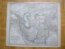 ASIEN IRAN AFGHANISTAN PERSIEN IRAK kolorierte Kupferstich KARTE 1859 map
