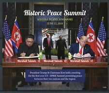 Marshall Islands 2018 MNH Peace Summit Donald Trump Kim Jong-un 3v M/S Stamps