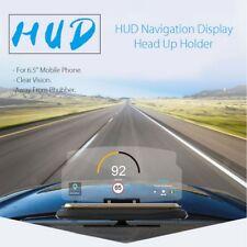 "6.5"" Screen Car GPS Navigation Cell Phones Holder HUD Head Up Display Projector"