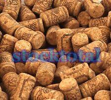 100 CORCHOS BOTELLA 38X23 MM CON SELLO NUEVOS ALTA CALIDAD PRESSION