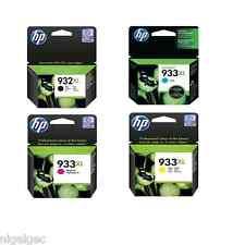 Hp 933xl Set De 4 Negro Cian Magenta Y Amarillo Tinta Officejet 6100 6600 6700