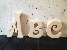 "Wooden freestanding Handcut letters/ numbers sizes4"",6"",8"",10"" free postage 18mm"