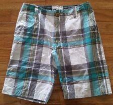 P.S. Aeropostale Kids Boys Green Plaid Shorts Size 7