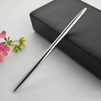 Metal Ballpoint Pen Silver Color Commerce Roller Pen Black Refill Ballpoint Pen