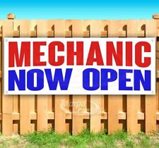Mechanic Now Open Advertising Vinyl Banner Flag Sign Many Sizes