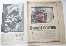 Lot 2 1999 Walter Payton Chicago Bears Newspaper Tribute Sections Inserts