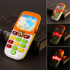 Electronic Phone Toy Baby Kids LED Light Mobile Phone Cellphone Educational Toys