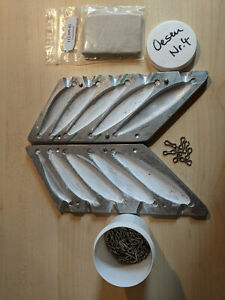 Angel Bleigußform + Superknete + ca. 280 4er-Edelstahlösen