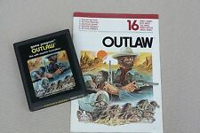 "Atari 2600 Vintage video game ""Outlaw"" 1978 with intruction manual"