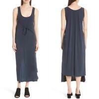 Vince Womens Sleeveless Tie Front Maxi Dress Size Medium Coastal NWT $195
