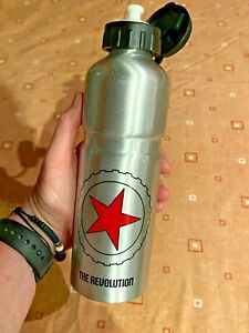 The Revolution Will Not Be Motorized Aluminum Flask Water Bottle Sparky Silver