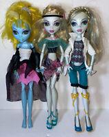 MONSTER HIGH LAGOONA BLUE lot of 3 Dolls