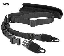 QD 2 Point Bungee Rifle/Shotgun Sling Military Strap W/Shoulder Pad Black