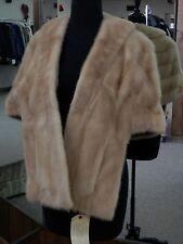 Pastel Mink Fur Stole/Cape/Wrap; fits up to size 14-16