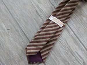 vintage BROOKS BROTHERS neck tie TWEED brown striped wool
