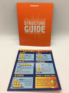 Gamewright KNOCK YOUR BLOCKS OFF Game Replacement Pieces 4 STRUCTURE GUIDES Card