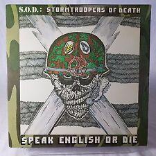 Stormtroopers Of Death Speak English or Die EX Vinyl TESTED MRI 1269 RARE 1985