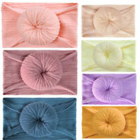 Donuts Nylon Baby Headband Kids Girl Hair Accessories For Infant Headwrap Turban
