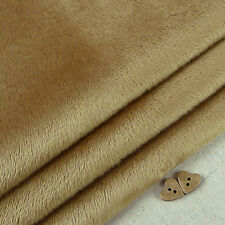 Cappuccino Smooth Cuddle Soft Fur Fabric / quilting fleece brown teddy toy bear