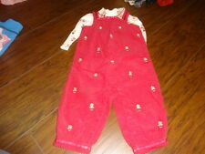 GYMBOREE 12-18 GINGERBREAD GIRL OVERALLS ONE PIECE SET