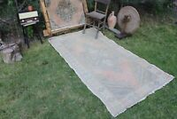 "Vintage Handmade Turkish Office Oushak Rug 7'1""x3'9"""
