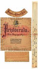 Unused 1940s PARAGUAY Asuncion Aristocrata Cana Paraguaya Aneja Wine Label