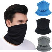 3 x Summer Face Mask Cooling Neck Gaiter Tube Scarf Sun Shield Bandana for Men