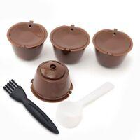 4 pezzi Dolce Gusto di plastica riutilizzabile Capsula di caffe' con pennel B8H7