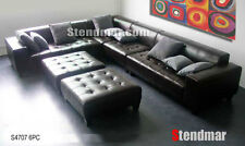 6PC MODERN EURO DESIGN LEATHER SECTIONALS SOFA S4705