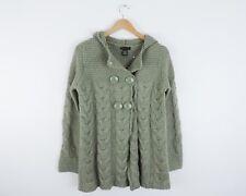 Women's BCBG Maxazria Green Thick Sweater Jacket Size Small