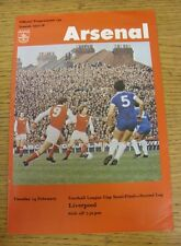 14/02/1978 Football League Cup Semi-Final: Arsenal v Liverpool  (Faint Crease).