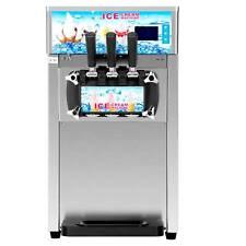 18lh Commercial Soft Serve Ice Cream Maker 3 Flavors Ice Cream Machine Dsu