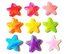 100 pcs Cute Shiny foil Star Padded Appliques mix assorted bright colors 25 mm