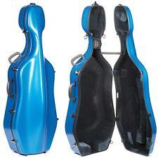 Eastman CL18 Classic Blue 4/4 Cello Case with Wheels - Velvet Interior