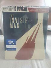 The Invisible Man Steelbook (4K Blu-ray/Blu-ray/Digital) Ships 9/8/20