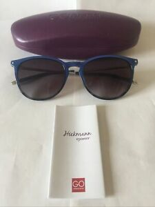 Hickmann Acetate Sunglasses Model H9020A in C05 Blue with Grey Lenses