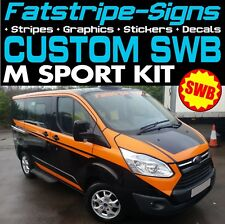 FORD TRANSIT CUSTOM SWB M SPORT GRAPHICS STICKERS DECALS STRIPES M-SPORT VAN