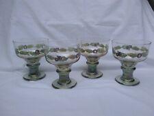 Vintage Carnival Glassware for Margaritas or Desserts. Set Of 4