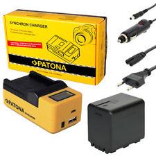 PATONA LCD USB Ladegerät + Akku ACCU für Panasonic HDC-TM80 TM90 TM99 HC-V500