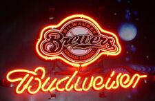 "New Milwaukee Brewers Logo Neon Light Sign 14""x10"" Lamp Display Beer Glass Bar"