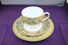 "Wedgwood Trio Cup Saucer and Plate ""Floral Tapestry"""